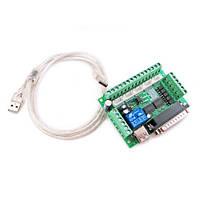 Интерфейсная плата MACH3 с опторазвязкой на 5 осей ЧПУ