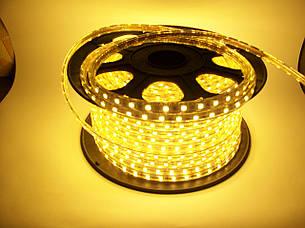 Светодиодная лента 220V SMD3528 60 диодов теплая, фото 2