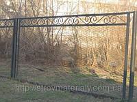 Забор из сетки-Рыбица с ковкой, фото 1