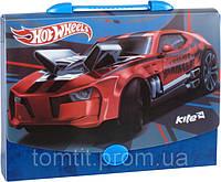"""Портфель-коробка пластиковый """"Hot Wheels"""" (на защелке, формат А4)"""