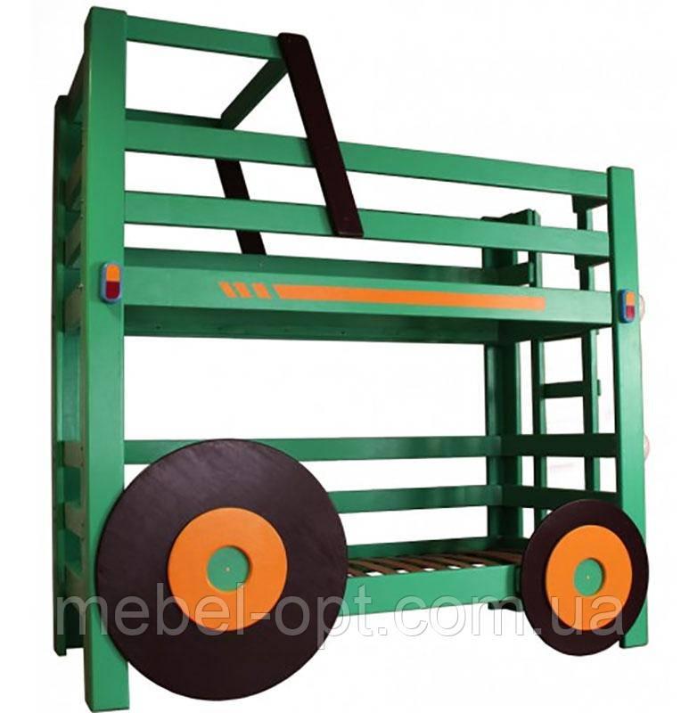 Двухъярусная кровать Трактор