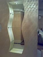 Стеклянные полки, Зеркала в декоративные ниши