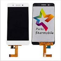 Дисплей для мобильного телефона Huawei GR3/Enjoy 5S, белый, с тачскрином, ORIG