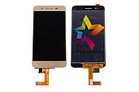 Дисплей для мобильного телефона Huawei GR3/Enjoy 5S, золотой, с тачскрином, ORIG
