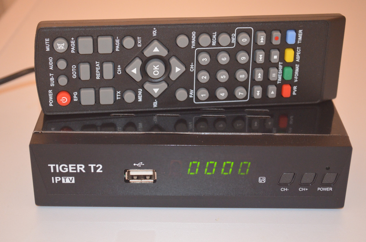 DVB-T2 Тюнер (ресивер) Т2 Tiger T2 IPTV Internet! цена в Киеве  Купить  недорого тюнер Т2