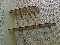 Стеклянные полки для ванных и санузлов, фото 1