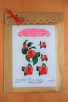 Водорастворимый флизелин с нанесенной схемой Садовая роза