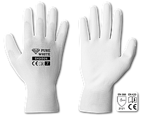 Перчатки защитные PURE WHITE полиуретан, размер 10, RWPWH10