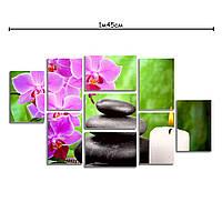 Модульная картина на холсте с принтом Розовая орхидея