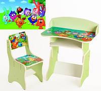 """*Набор мебели - Парта и стульчик """"Смешарики"""" арт. 111"""