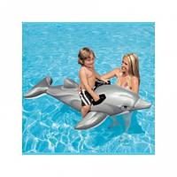 Детский надувной плотик Intex  Дельфин