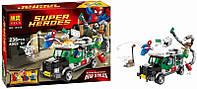 Конструктор Bela 10239 Super Heroes Человек-паук против Доктора Осьминога: ограбление грузовика, 236 дет