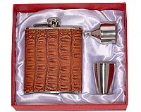 Фляга с рюмками и лейкой, подарочный набор