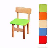 *Детский стульчик деревянный цветной ТМ Финекс (цвета в ассортименте) арт. 011-016