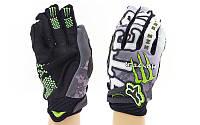 Мотоперчатки текстильные с закрытыми пальцами Monster 3905: текстиль, L-XL