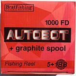Катушка для рыбалки BratFishing, AUTOBOT 1000 FD, 5+1 подш., фото 4