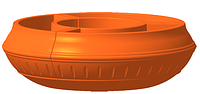 """Вазон на столб, фонарь сборной  Ф900 мм """"Терракот"""" уличные горшки (Термочаша двойные стенки) для цветов. , фото 1"""