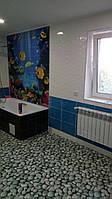 Панно Подводный мир  - кафель на стены, плитка 20х30см.