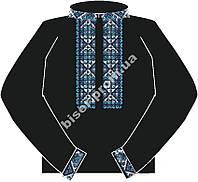 Заготовка мужской вышиванки бисером на льне ЧСВЧ-1