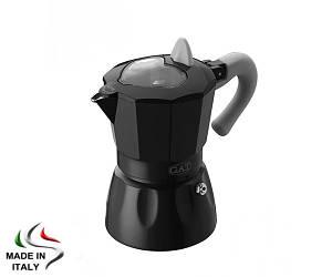 Гейзерная кофеварка GAT ROSSANA черная 150 мл., на 3 чашки (816)