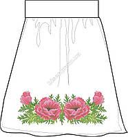 Заготовка женской юбки бисером на льне СПЖБ-7