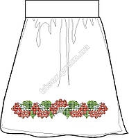 Заготовка женской юбки бисером на льне СПЖБ-24