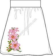 Заготовка женской юбки бисером на льне СПЖБ-11