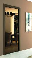 Зеркальные двери в алюминиевой раме