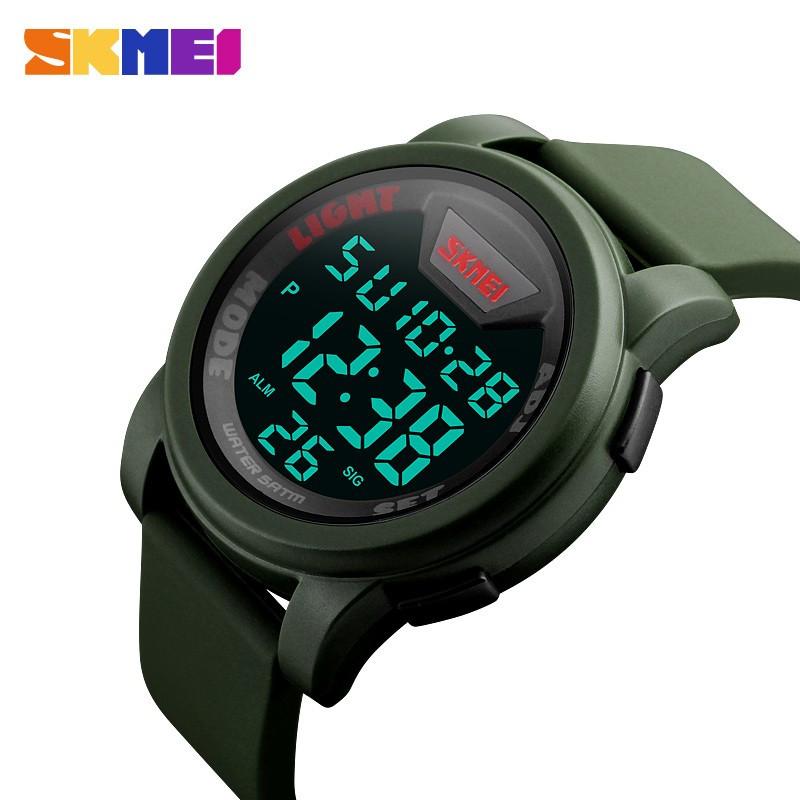 Мужские часы Skmei 1218 (цвет хаки) Original