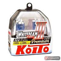 Автолампы Koito WhiteBeam III, 4500K, H4, 2шт., P0744W