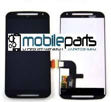 Оригинальный Дисплей (Модуль) + Сенсор (Тачскрин) для Motorola Moto G2 (Черный)