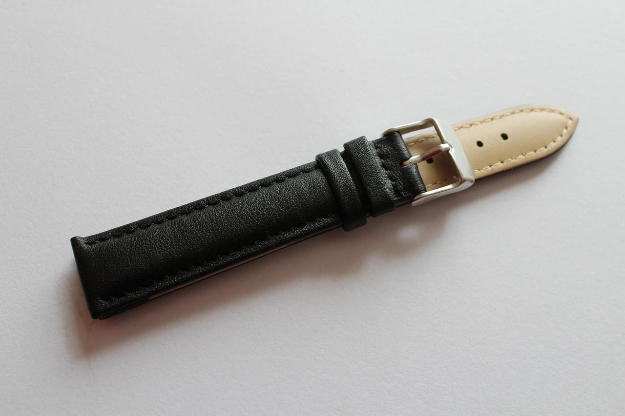 Ремешок для наручных часов-классический гладкий ремень черного цвета из натуральной кожи 18 мм
