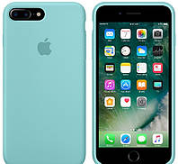 Силиконовый чехол Apple Silicone Case (MMQY2FE/A) для Iphone 7 Plus (Sea  Blue | Бирюзовый) Original