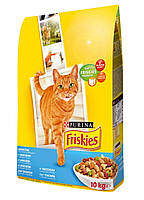 Friskies корм для кошек c лососем, тунцом и овощами, 10 кг