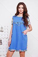 женское летнее платье Лана свободного кроя в разных цветах + большие размеры