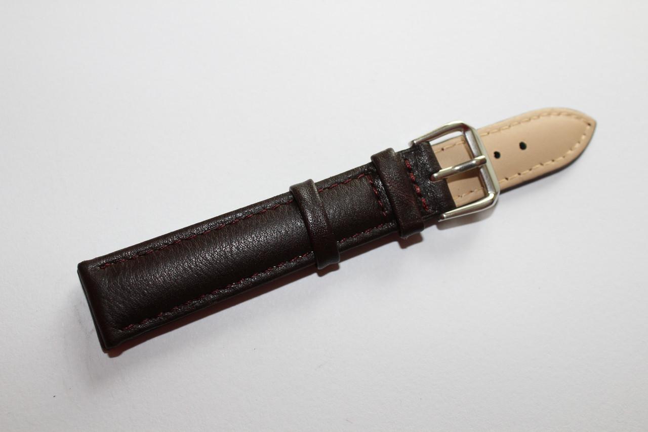Ремешок для наручных часов-классический гладкий ремень коричневого цвета из натуральной кожи 18 мм