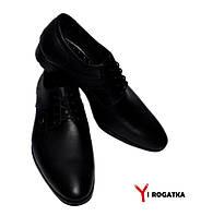 Мужские модельные кожаные туфли KARAT, черные, шнуровка