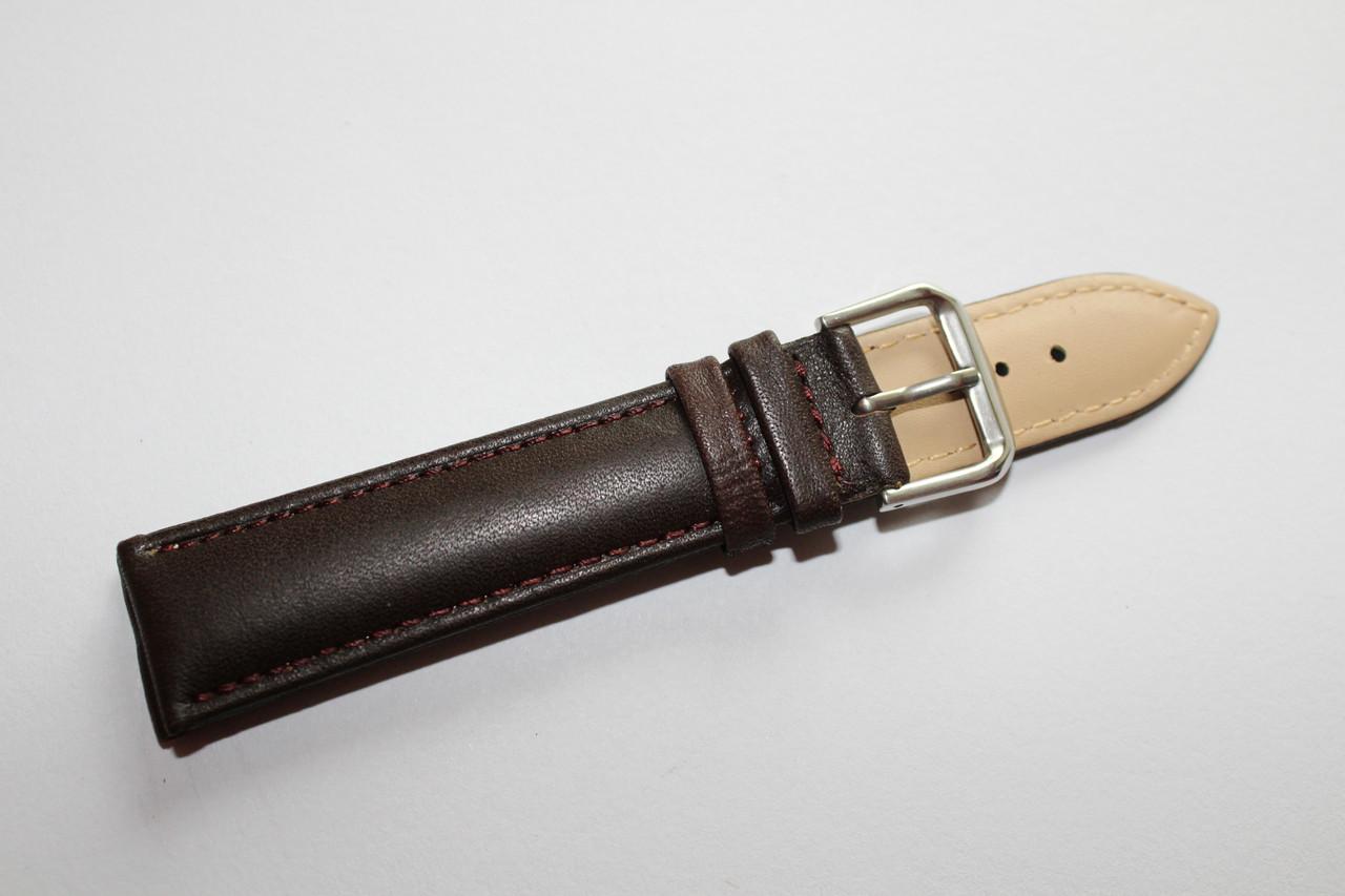 Ремешок для наручных часов-классический гладкий ремень коричневого цвета из натуральной кожи 20 мм