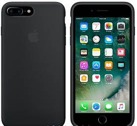 Силиконовый чехол Apple Silicone Case (MMWF2FE/A) для Iphone 7 Plus (Black | Чёрный) Copy