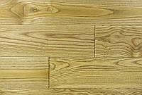 "Паркетная доска массив, Массивная доска, Доска пола ""Ясень Дуб Антик"", 15х120х400-1200 мм. Натур"