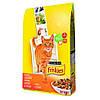 Friskies корм для кошек с курицей и овощами, 10 кг