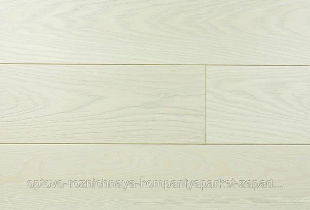 """Массивная паркетная доска Ясень, цвет """"Дуб Снежный"""", ширина 100 мм, фото 2"""