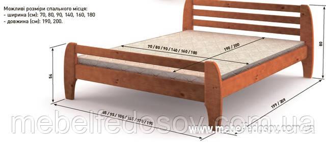Кровать деревянная милан мебигранд