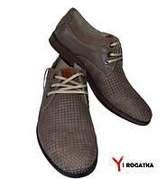 Мужские комбинированные туфли SLAT лето, латте