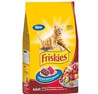 Friskies корм для кошек с мясом, печенью и курицей, 10 кг