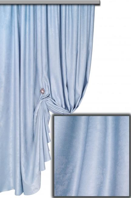 Ткань Софт-велюр, Светло-Голубой