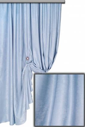 Ткань Софт-велюр, Светло-Голубой, фото 2