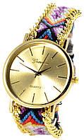Женские крупные часы феничка Geneva