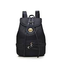 Женский молодежный рюкзак черного цвета. Городской рюкзак.
