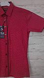 Рубашка красная для мальчиков на рост 140-170, фото 3
